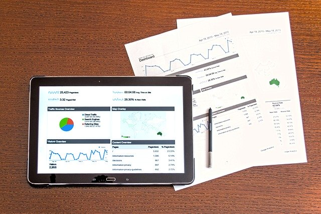 Tablet with data dashboard
